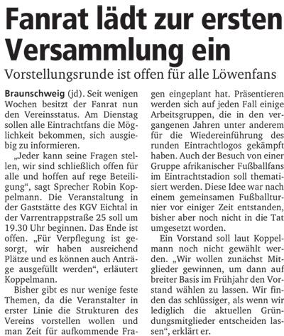 Neue Braunschweiger, 03.01.2015