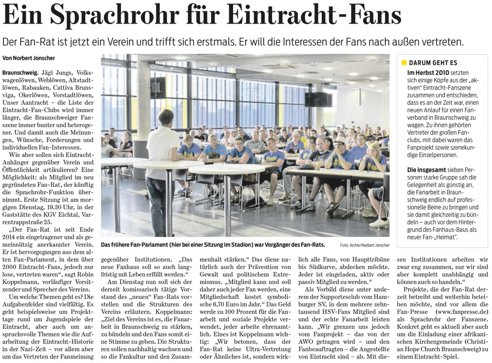 Braunschweiger Zeitung, 05.01.2015