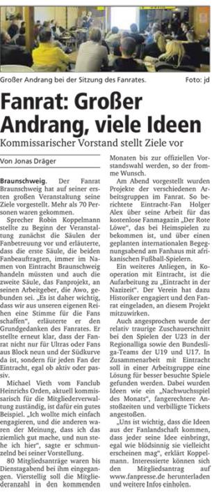 Neue Braunschweiger, 10.01.2015