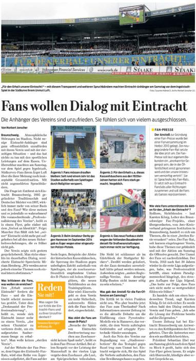 Braunschweiger Zeitung, 24.03.2015